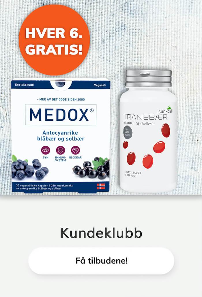Hver 6. gratis tilbud Medox Tranebær